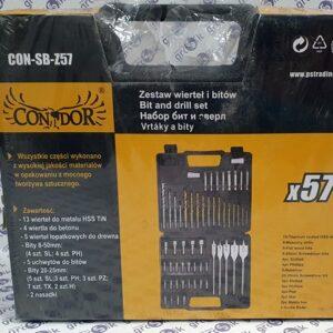 Condor Zestaw wierteł i bitów 57 elementów CON-SB-Z57